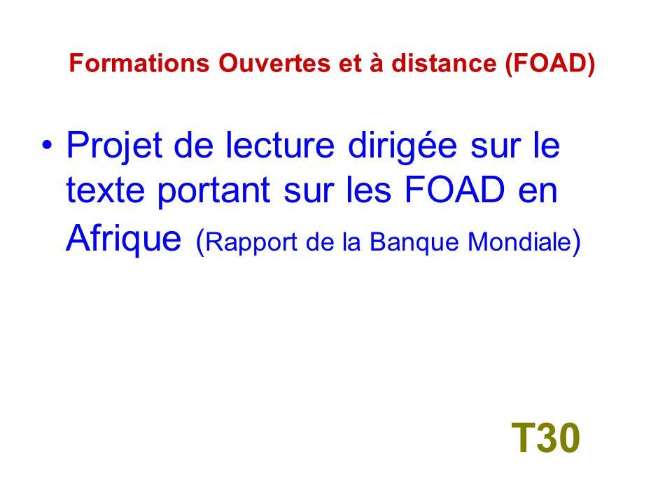 3- Formations Ouvertes et à distance (FOAD) T29