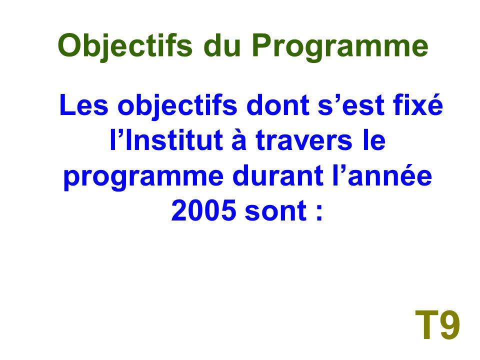 II OBJECTIFS DU PROGRAMME T8
