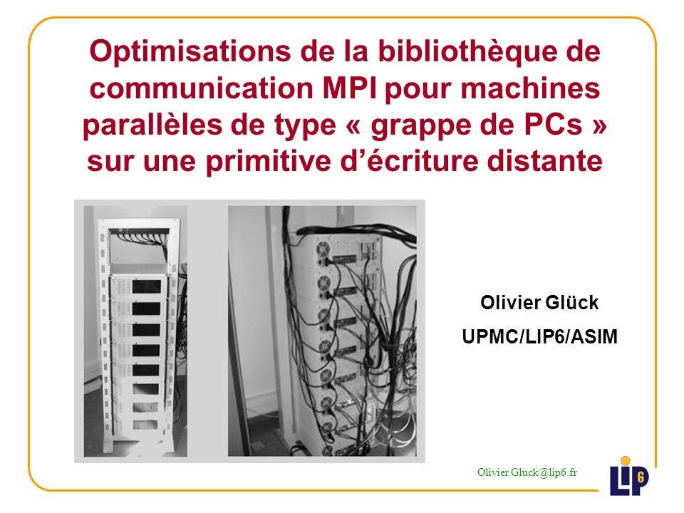 22/46 Le mode standard dans MPI 2 ème partie - Architecture de MPI sur une primitive décriture distante