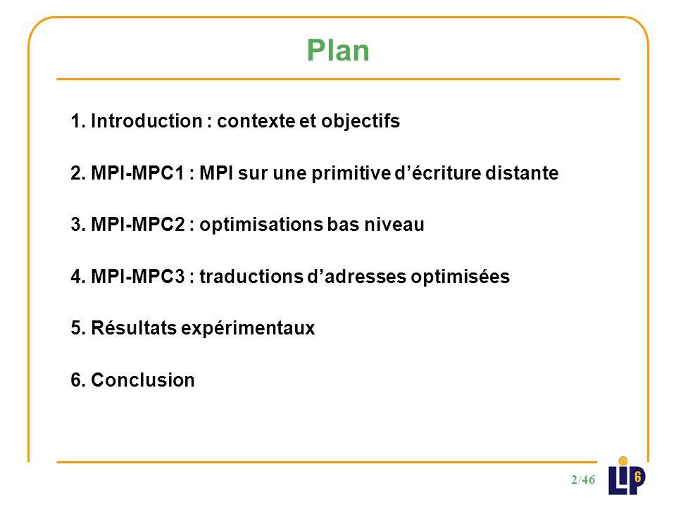 33/46 3 ème partie - Optimisations des couches basses de communication Performances de MPI-MPC2 421