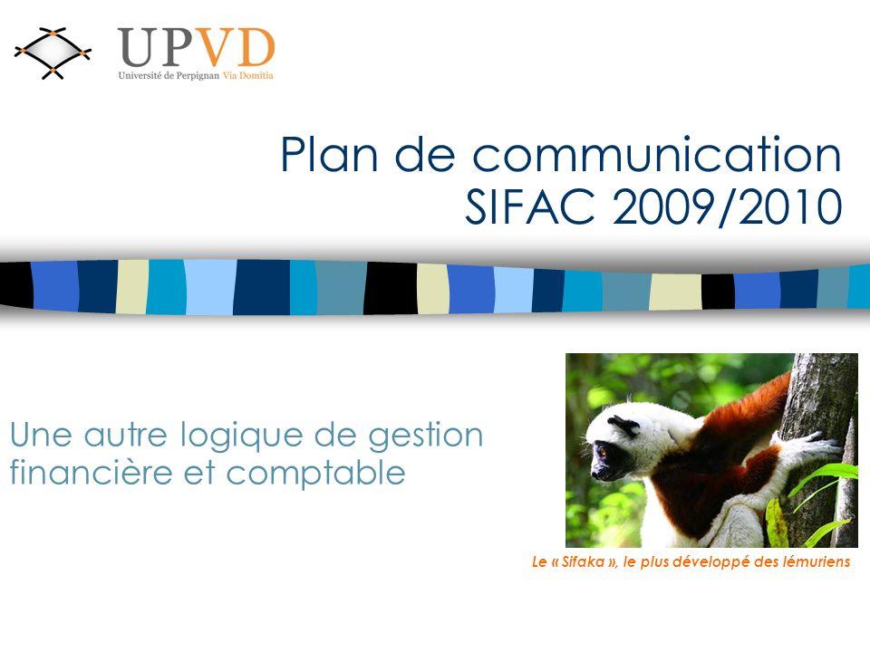 Plan de communication SIFAC 2009/2010 Une autre logique de gestion financière et comptable Le « Sifaka », le plus développé des lémuriens