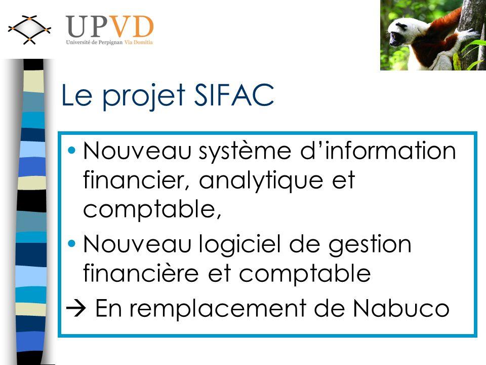 Le projet SIFAC Nouveau système dinformation financier, analytique et comptable, Nouveau logiciel de gestion financière et comptable En remplacement de Nabuco