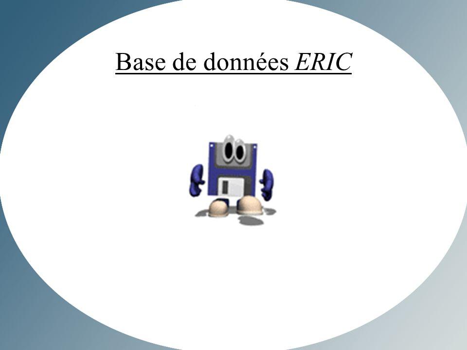 Base de données ERIC