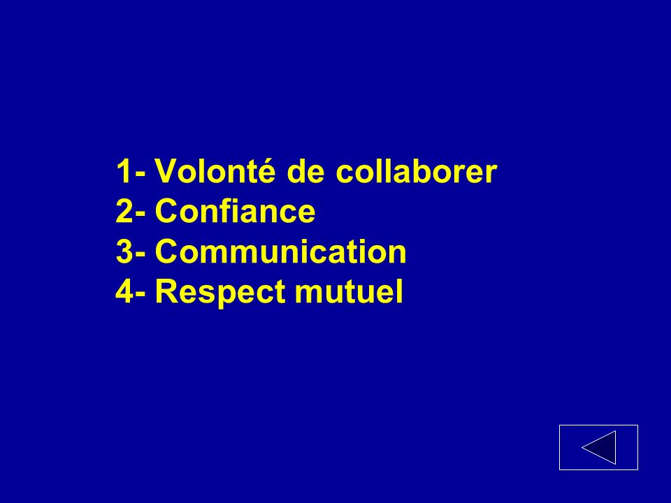 Quels sont les 4 déterminants de la collaboration interprofessionnelle