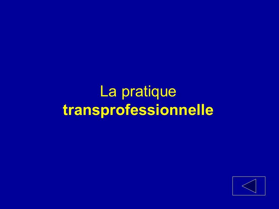 La pratique_____________ fait appel à un transfert de tâches dun membre de léquipe à un autre.