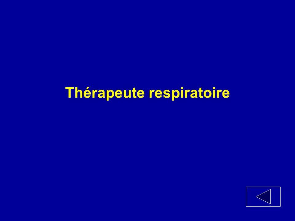 Je suis un professionnel de la santé qui aide les médecins à établir le diagnostic et à traiter les problèmes pulmonaires.