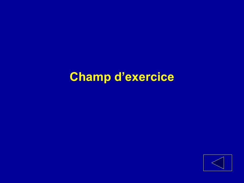 Champ dexercice