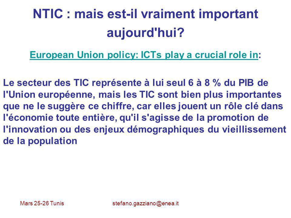 Mars 25-26 Tunis stefano.gazziano@enea.it Applications du Web 2.0 pour l Entreprise Montepaschi Réseau social interne Expérimentations interne et externe Beaucoup des opérations en ligne Brand channel sur Youtube Fan page sur Facebook