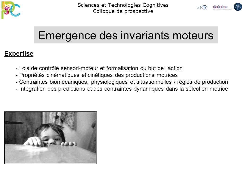 Sciences et Technologies Cognitives Colloque de prospective Expertise - Lois de contrôle sensori-moteur et formalisation du but de laction - Propriété