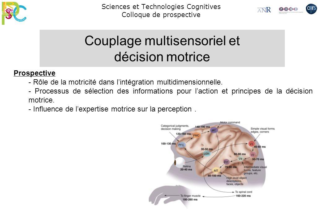 Sciences et Technologies Cognitives Colloque de prospective Prospective - Rôle de la motricité dans lintégration multidimensionnelle. - Processus de s