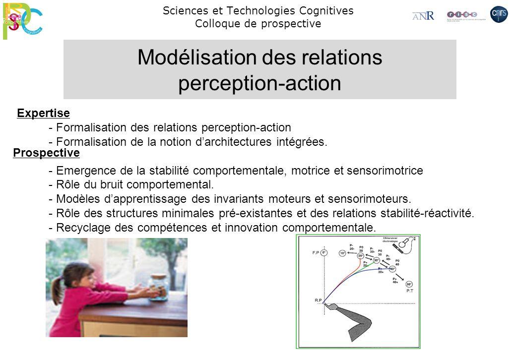 Sciences et Technologies Cognitives Colloque de prospective - Formalisation des relations perception-action - Formalisation de la notion darchitecture