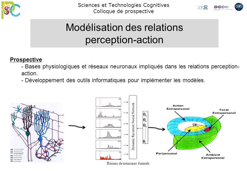Sciences et Technologies Cognitives Colloque de prospective Prospective - Bases physiologiques et réseaux neuronaux impliqués dans les relations perce