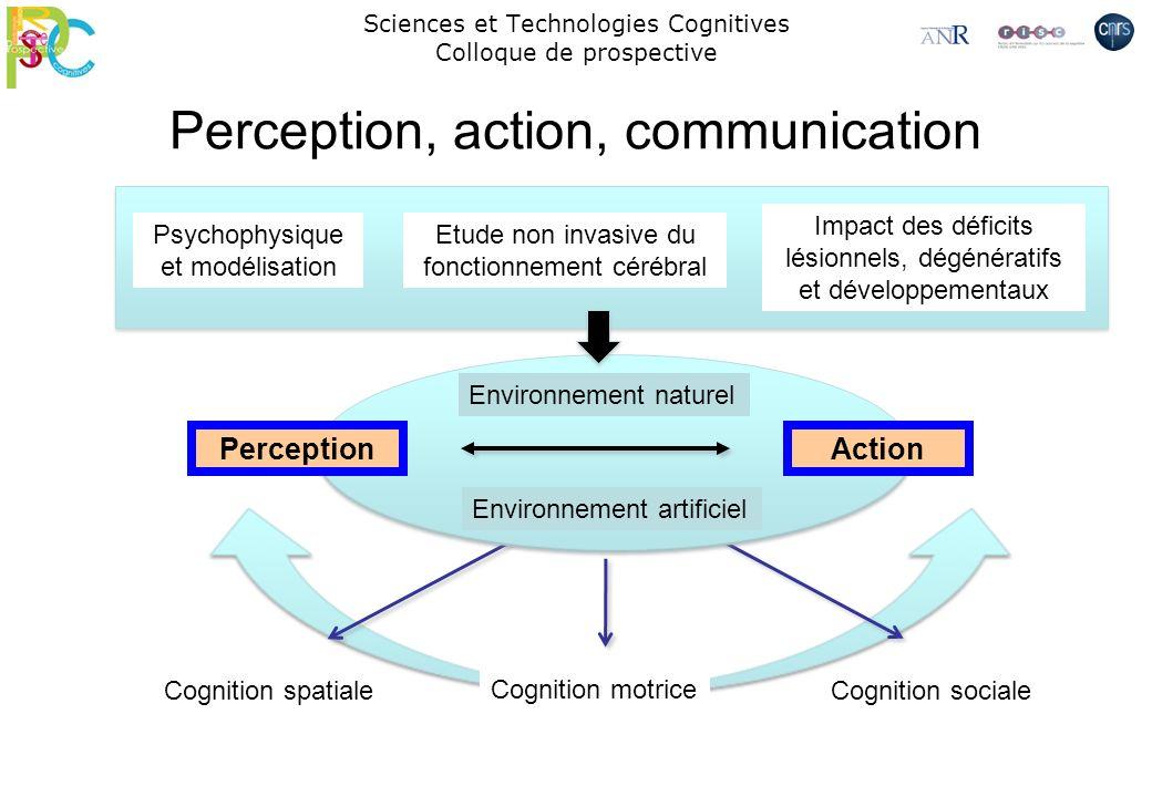 Sciences et Technologies Cognitives Colloque de prospective Perception, action, communication ActionPerception Cognition spatiale Cognition motrice Co