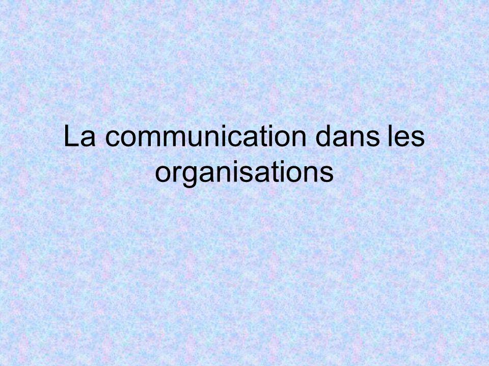 IVLes mécanismes de la communication dans les organisations IV.2.2 Les communications verticales c)Communications réciproques et organisations –Les avantages : »le message est compris plus facilement, avec plus de précision et d exactitude.