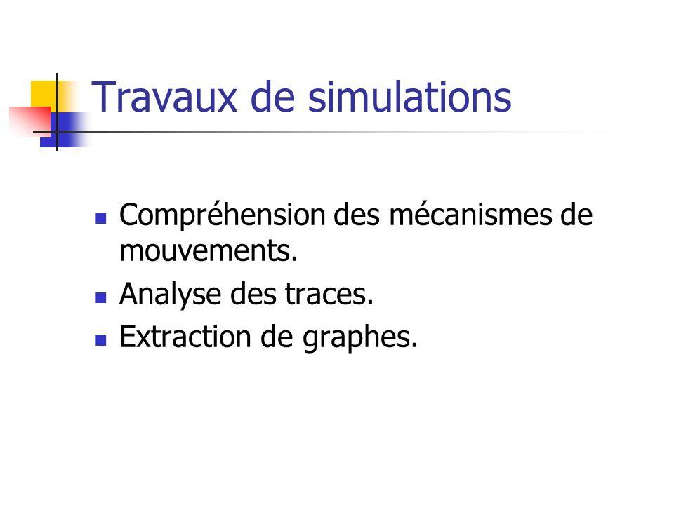 Travaux de simulations Compréhension des mécanismes de mouvements.