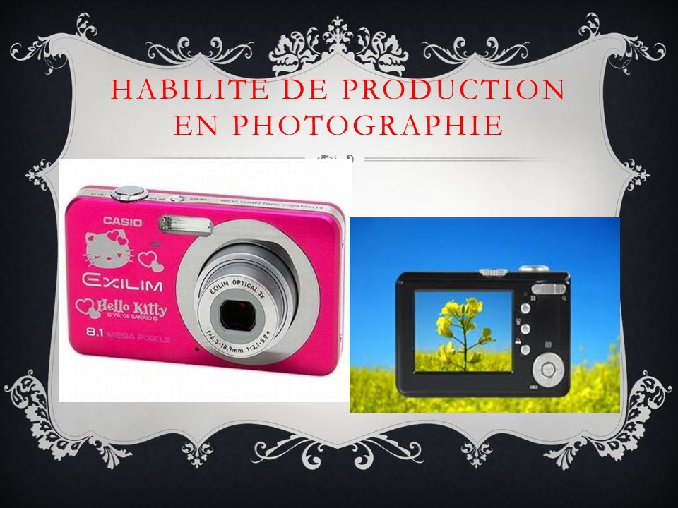 HABILITE DE PRODUCTION EN PHOTOGRAPHIE