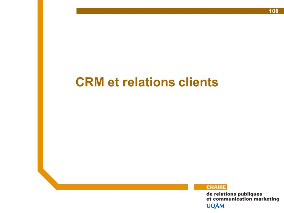 CRM et relations clients 108
