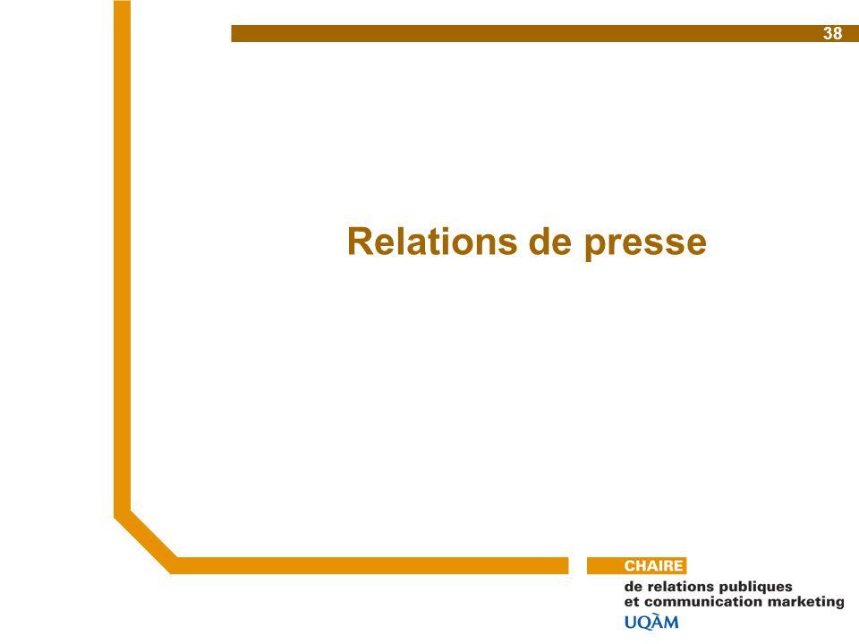 Relations de presse 38