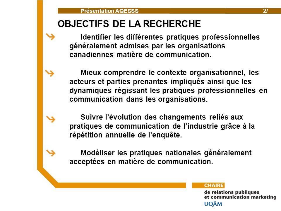 Identifier les différentes pratiques professionnelles généralement admises par les organisations canadiennes matière de communication.