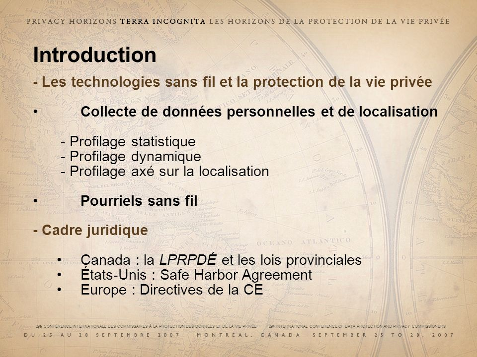 29e CONFÉRENCE INTERNATIONALE DES COMMISSAIRES À LA PROTECTION DES DONNÉES ET DE LA VIE PRIVÉE 29 th INTERNATIONAL CONFERENCE OF DATA PROTECTION AND PRIVACY COMMISSIONERS Qui devrait autoriser la communication/obtenir lautorisation de communiquer.