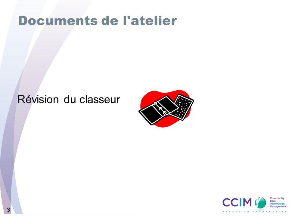 3 Documents de l atelier Révision du classeur