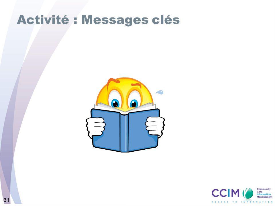 31 Activité : Messages clés