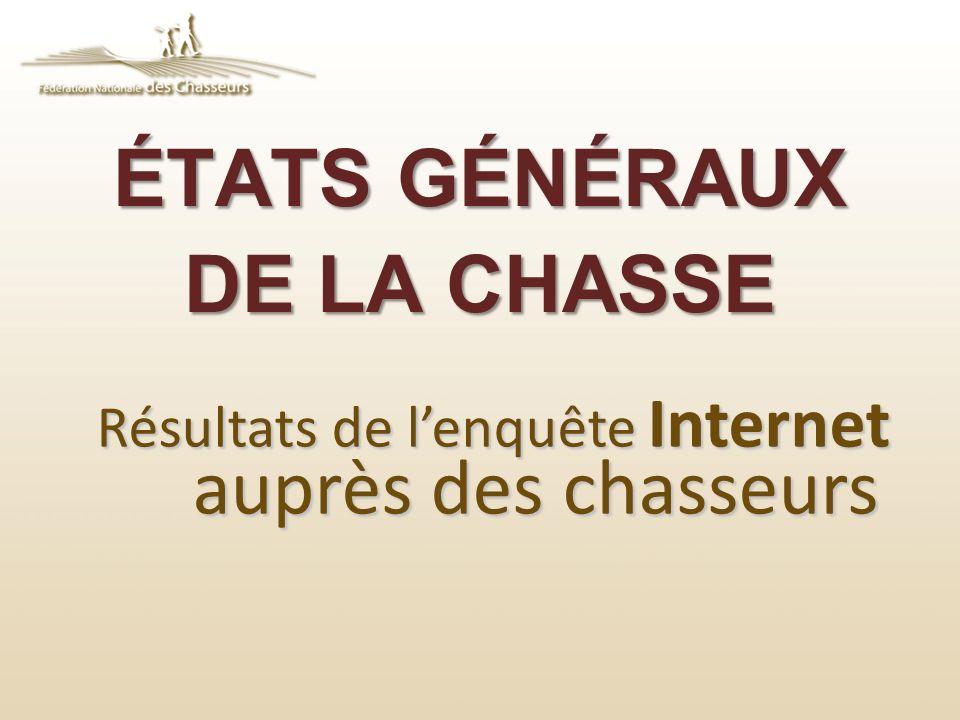 ÉTATS GÉNÉRAUX DE LA CHASSE Résultats de lenquête Internet auprès des chasseurs
