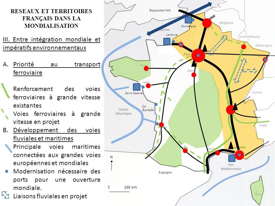 RESEAUX ET TERRITOIRES FRAN Ҫ AIS DANS LA MONDIALISATION Lille Paris Lyon Marseille Dunkerque Saint Nazaire III. Entre intégration mondiale et impérat