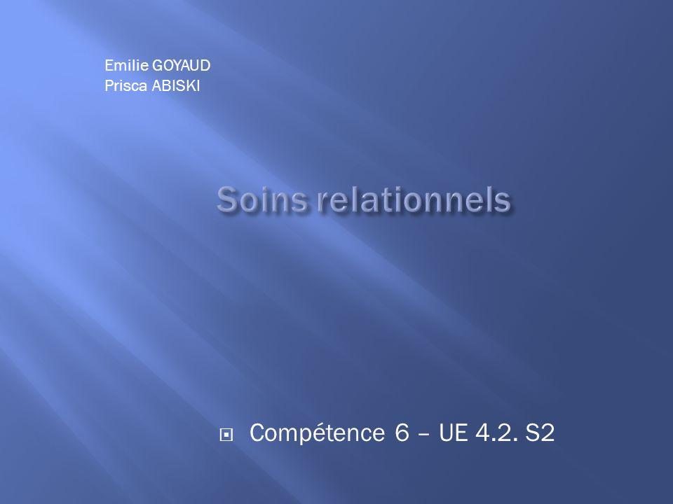 Compétence 6 – UE 4.2. S2 Emilie GOYAUD Prisca ABISKI