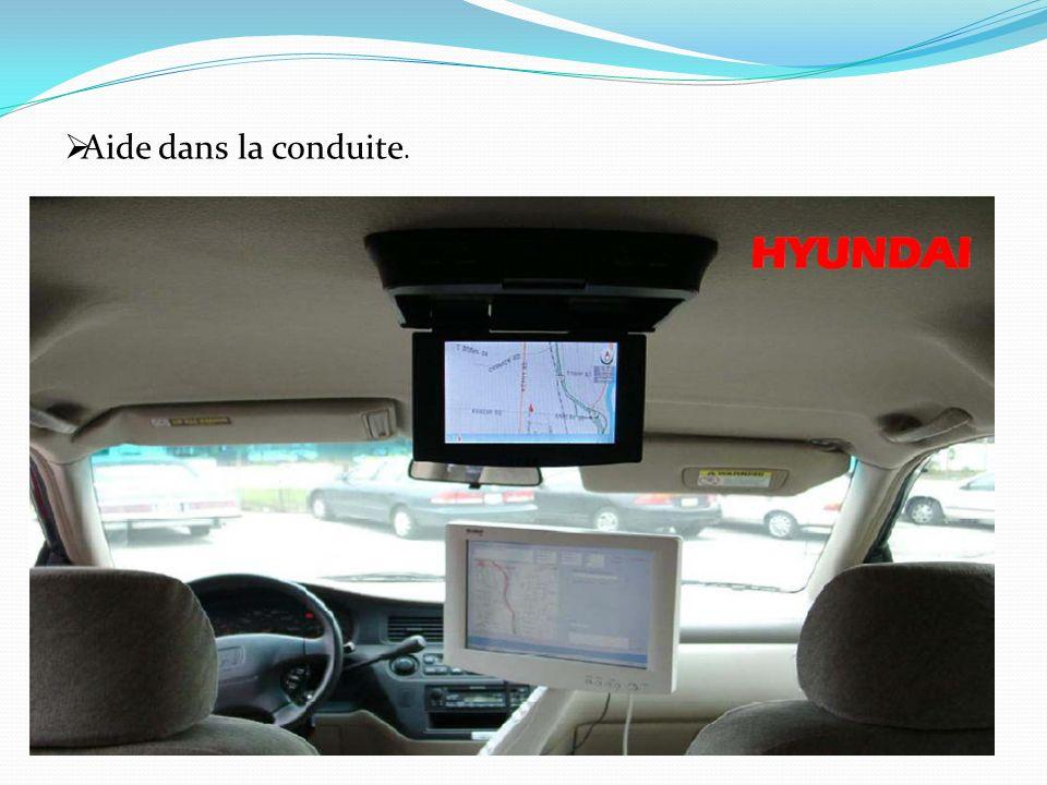 Aide dans la conduite.