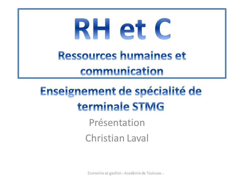 Présentation Christian Laval Economie et gestion - Académie de Toulouse -