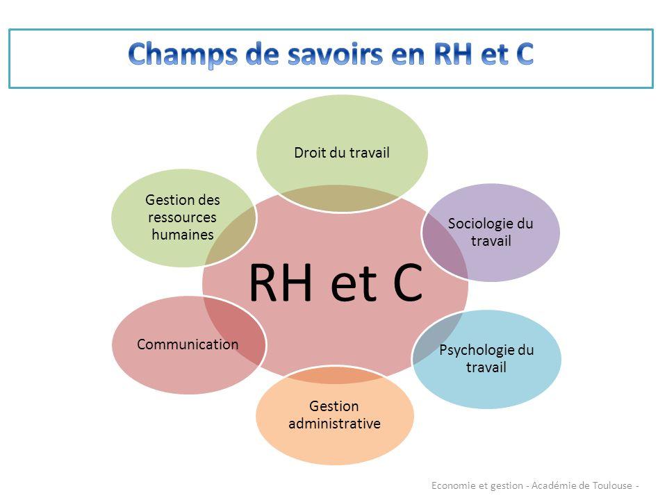 RH et C Droit du travail Sociologie du travail Psychologie du travail Gestion administrative Communication Gestion des ressources humaines Economie et