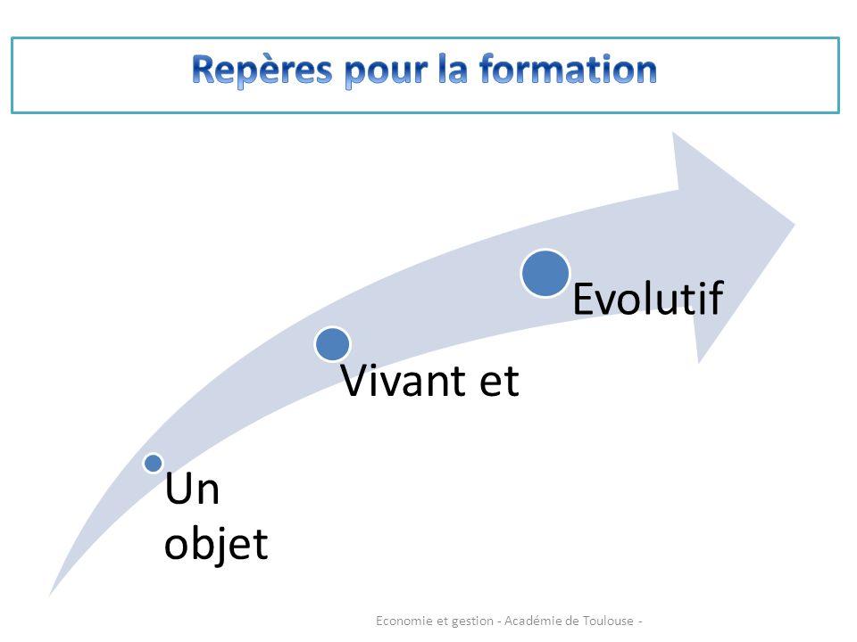 Un objet Vivant et Evolutif Economie et gestion - Académie de Toulouse -
