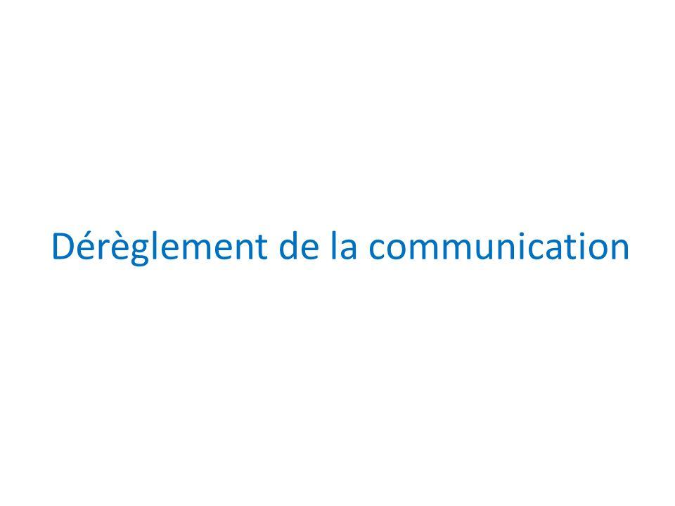 Dérèglement de la communication