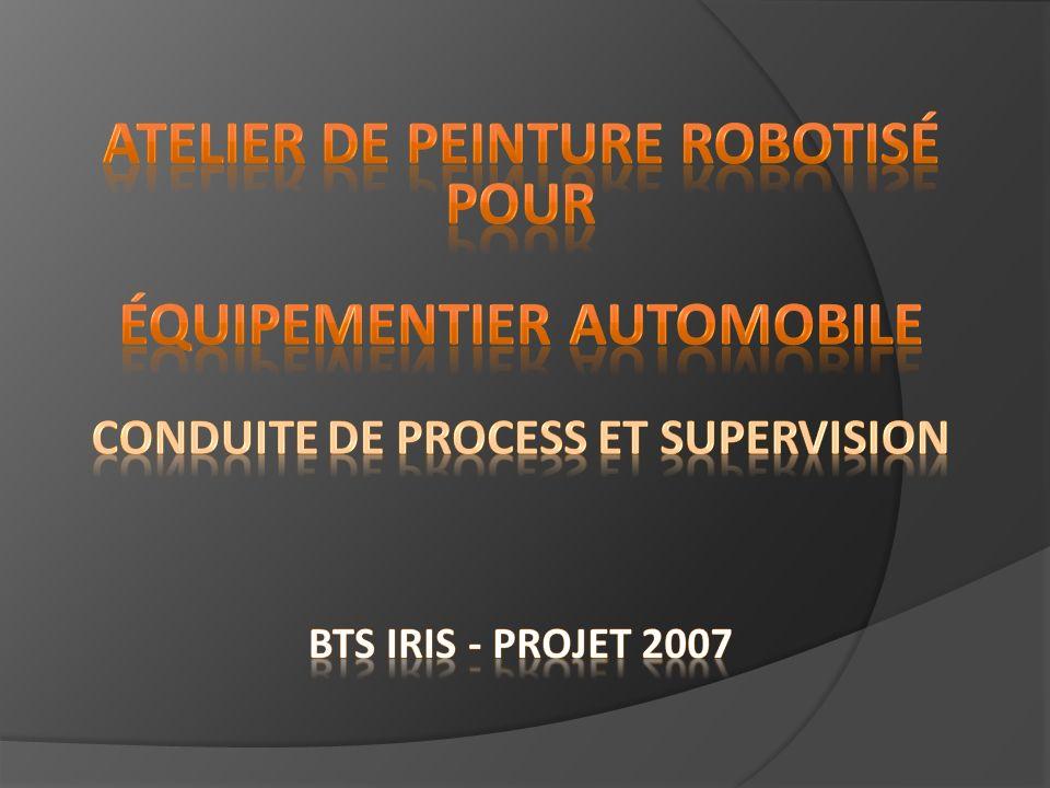 Dans le cadre du projet BTS IRIS 2007, nous allons étudier le processus de fonctionnement dun atelier de peinture.