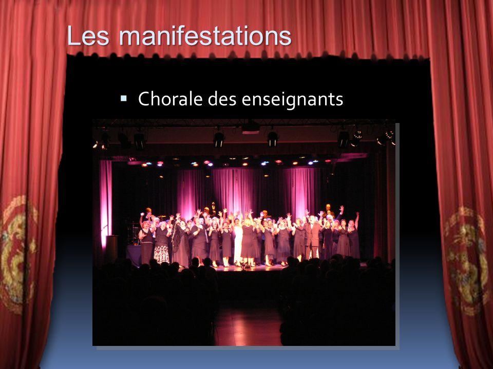 Chorale des enseignants Les manifestations