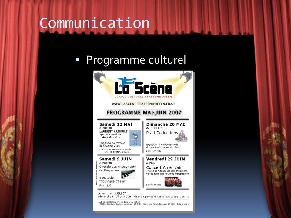 Communication Programme culturel