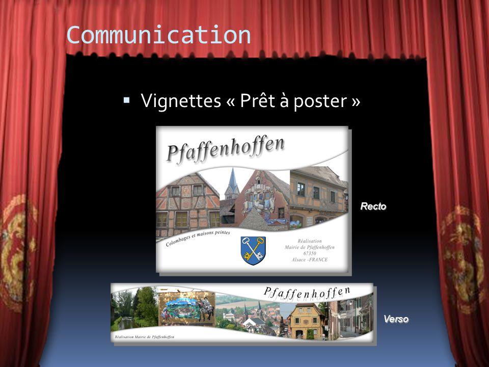 Communication Vignettes « Prêt à poster » Recto Verso