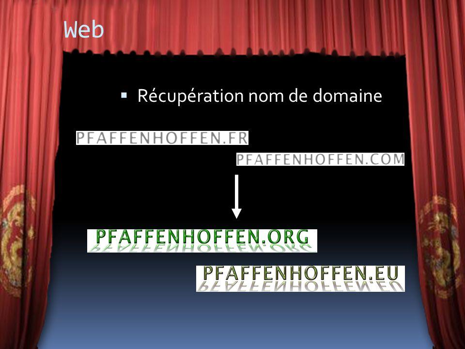 Web Récupération nom de domaine