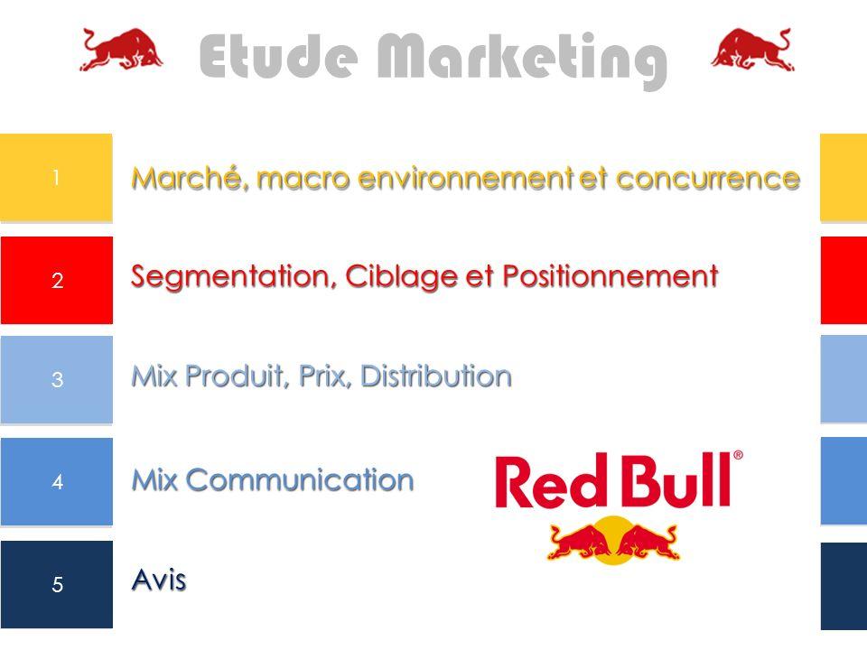 Segmentation, Ciblage et Positionnement Mix Produit, Prix, Distribution Mix Communication Avis 2 3 4 5 Etude Marketing Segmentation, Ciblage et Positi