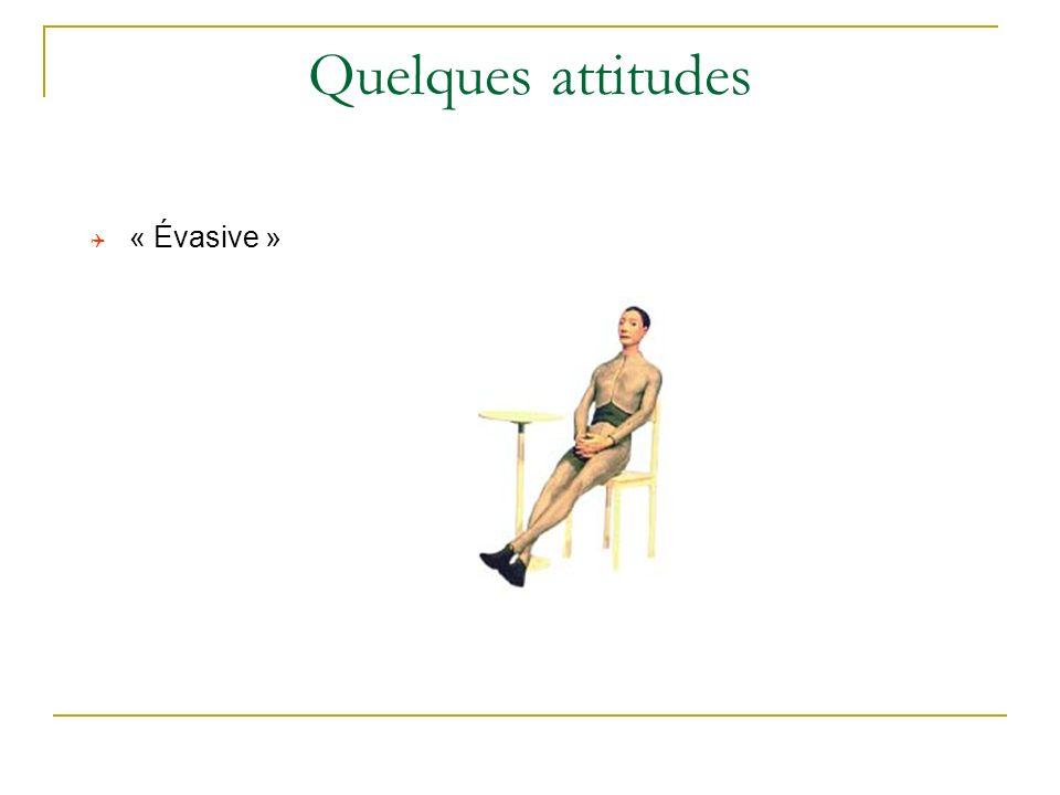 Quelques attitudes « Évasive »