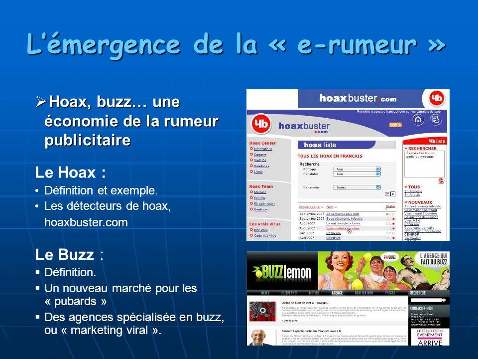 Hoax, buzz… une économie de la rumeur publicitaire Hoax, buzz… une économie de la rumeur publicitaire Le Hoax : Définition et exemple. Les détecteurs