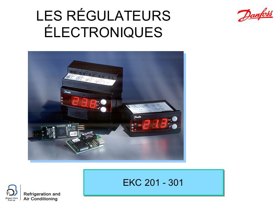Expect more from us LES RÉGULATEURS ÉLECTRONIQUES EKC 201 - 301