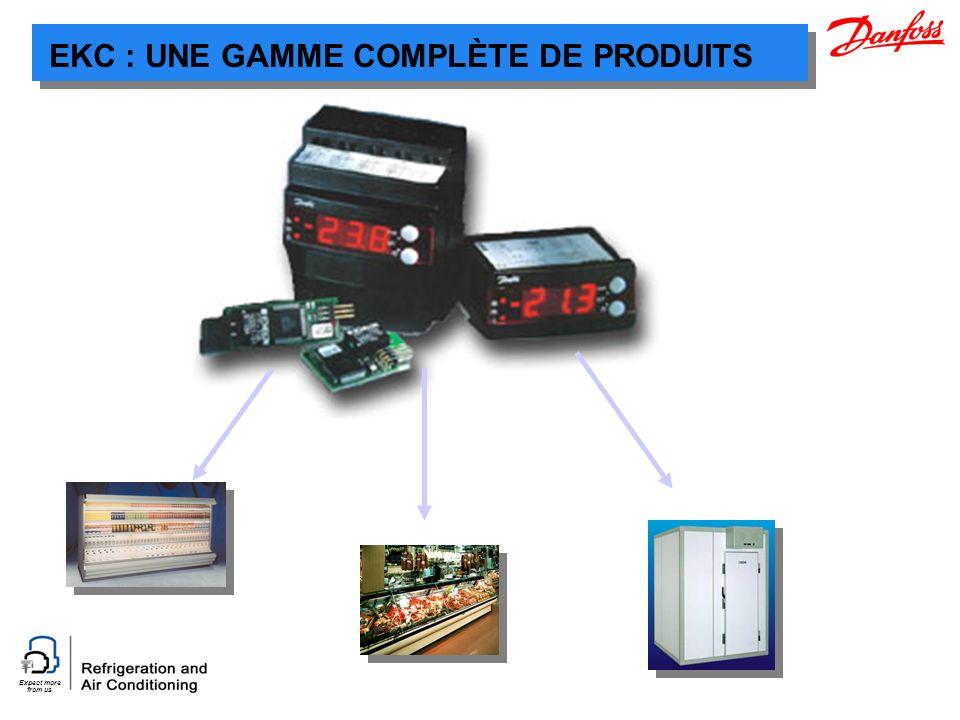 Expect more from us EKC : UNE GAMME COMPLÈTE DE PRODUITS
