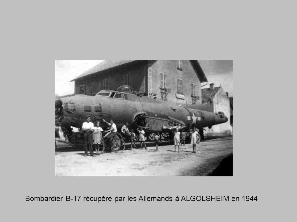 Bombardier B-17 récupéré par les Allemands à ALGOLSHEIM en 1944