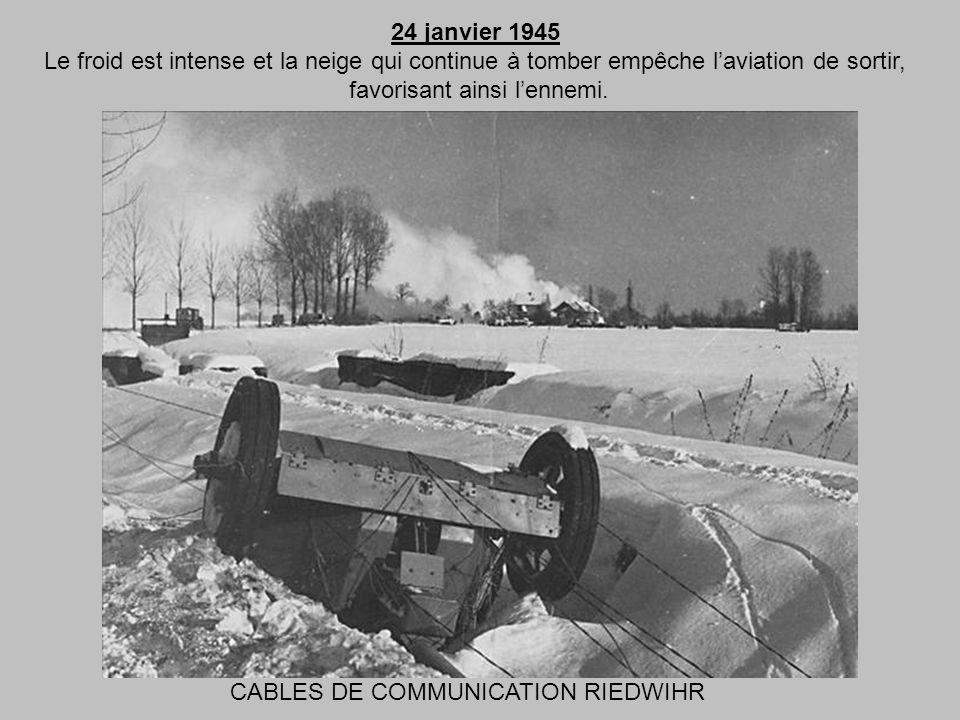23 janvier 1945 Il neige. Lordre de mouvement arrive le soir. Il sagit de prendre COLMAR. Les Américains doivent commencer lattaque dans la nuit et pa