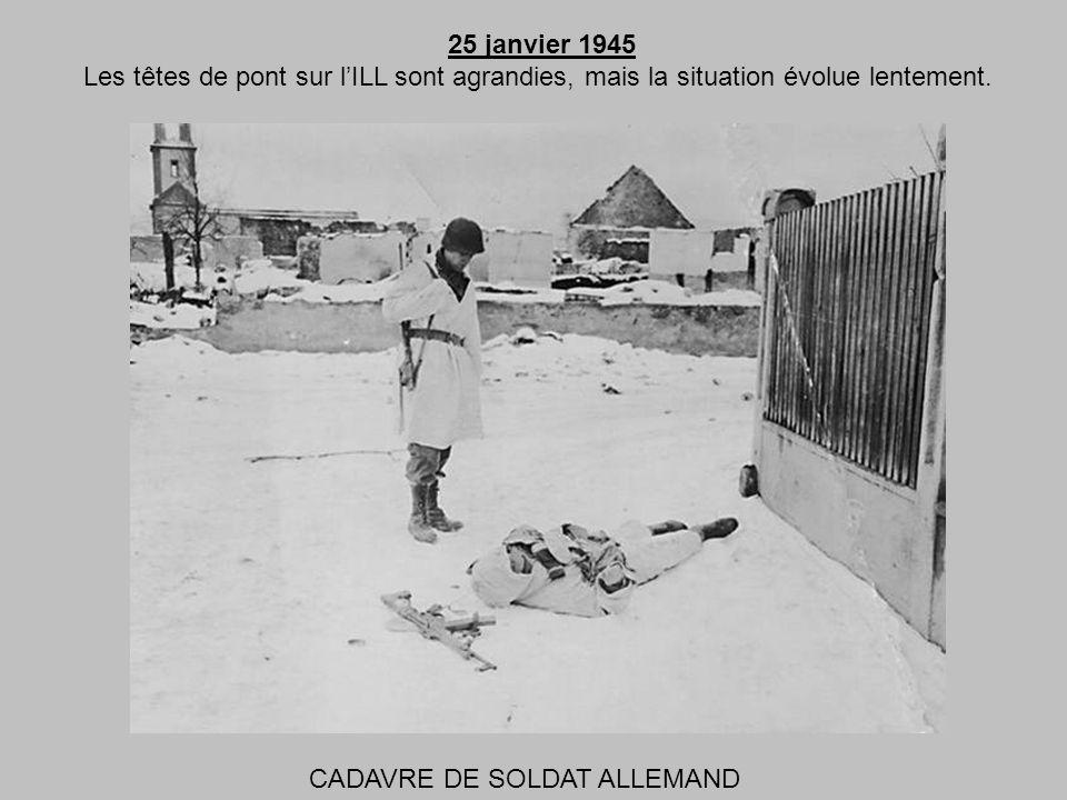 24 janvier 1945 Le froid est intense et la neige qui continue à tomber empêche laviation de sortir, favorisant ainsi lennemi. CABLES DE COMMUNICATION