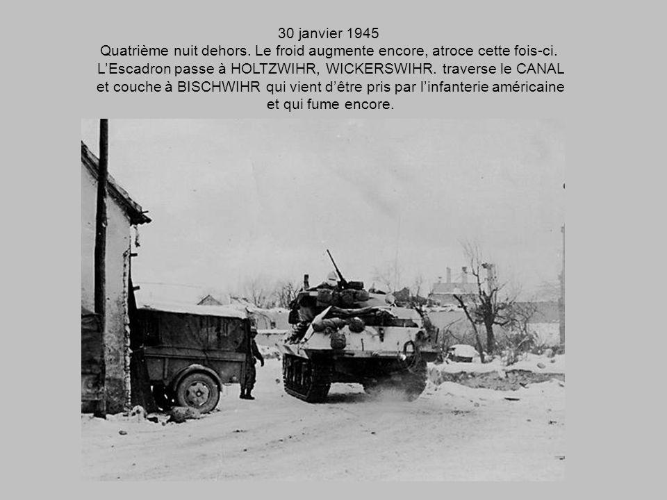 29 janvier 1945 On annonce que le Canal de COLMAR est atteint, HOLTZWIHR et WICKERSCHWIHR pris. MORTIER A OSTHEIM