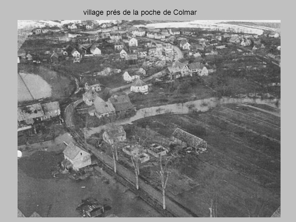 Colmar convoi de blindés Americain pour le soution des Troupes de lInfanterie sur la poche de Colmar