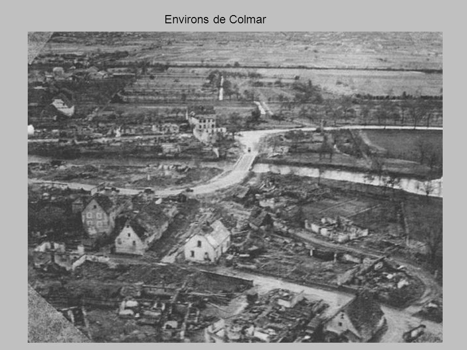 village prés de la poche de Colmar vue sur les Vosges